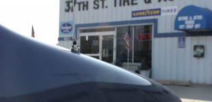 The van's final trip to 37th Street Tire and Auto