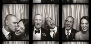 The fun faces of the photo booth