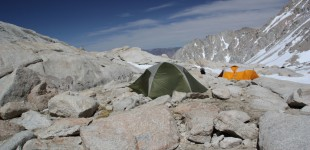 Tent pitched at Trail Camp