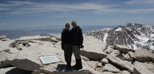 Phil and Mere at the summit