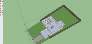 Sketchup of the house