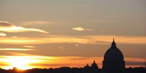 Sunset on Vatican City